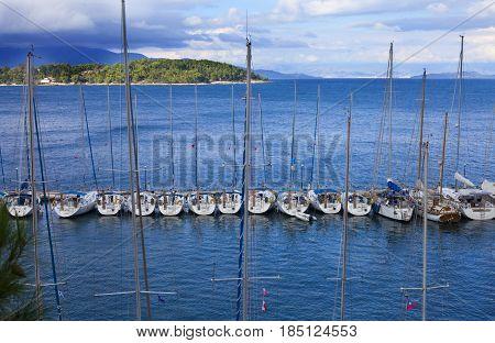 Kerkyra Marina With The Yachts