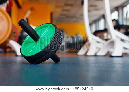 Training equipment on the floor in the gym