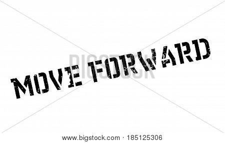 Move Forward rubber stamp. Grunge design with dust scratches. Effects can be easily removed for a clean, crisp look. Color is easily changed.