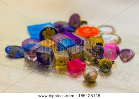 Many Crystals Made Of Epoxy Resin