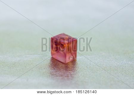Pink Crystal Made Of Epoxy Resin