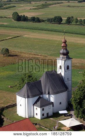 DONJA KUPCINA, CROATIA - NOVEMBER 07: Parish Church of Saint Mary Magdalene in Donja Kupcina, Croatia on November 07, 2007.