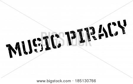 Music Piracy rubber stamp. Grunge design with dust scratches. Effects can be easily removed for a clean, crisp look. Color is easily changed.