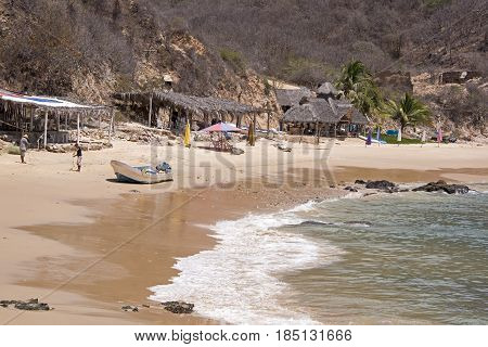 Remote fishing hamlet in Cabo Corrientes by the Mexican Pacific Ocean