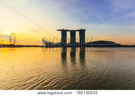SINGAPORE - MAY 15: Marina Bay Sands World's most expensive standalone casino property in Singapore at S$8 billion on May 15, 2016