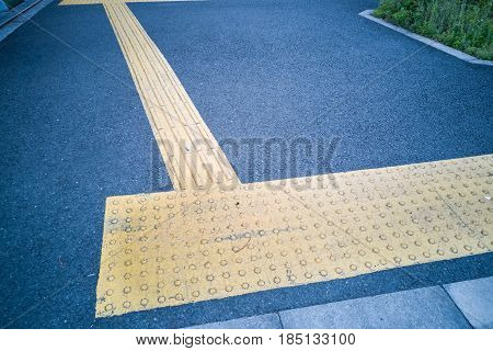 Outdoor Pedestrian Tactile Facility For Visually Impaired People
