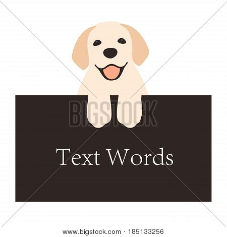 Golden Retriever Lie On The Billboard, Front View Vector