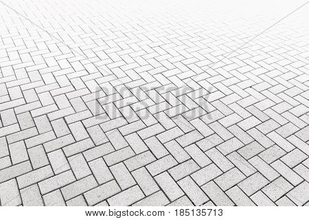 Pattern of walkway concrete block paving. Abstract background.