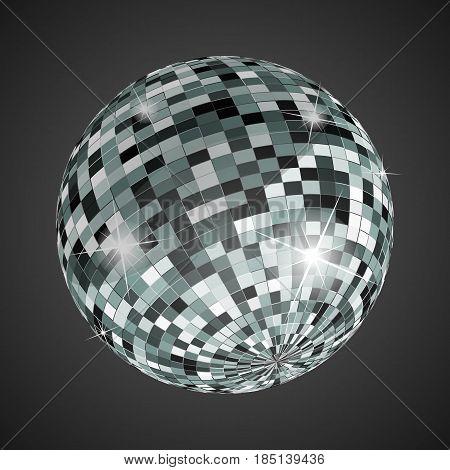 disco ball illustration, vector illustration.  Night Club party light element