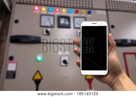 blurred photo, Blurry image control panel room background