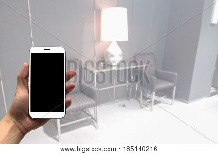 Blurry image Inside the waiting room and Reception room background