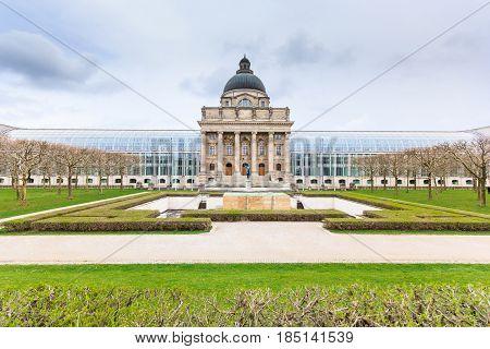bavarian state chancellery building, Hofgarten, Munich, Germany
