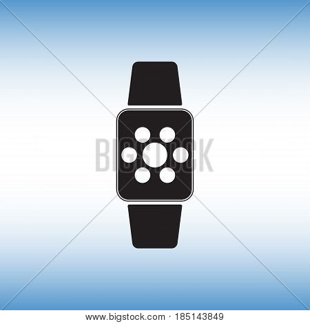 Smart watch flat vector icon. Isolated smart watch vector sign.