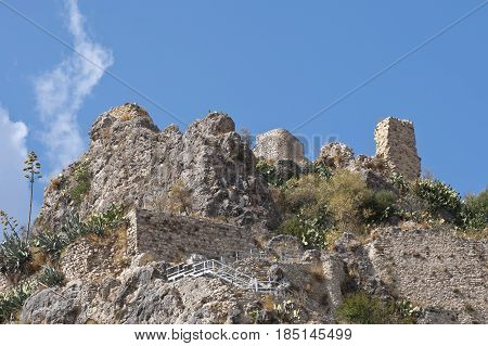 Castel of Zahara de la Sierra, Spain. This village is part of the pueblos blancos -white towns- in southern Spain, Andalusia
