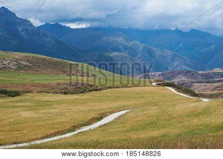 Road In Green Valley Peru