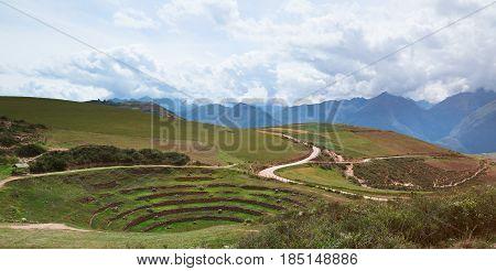 Sacred Valley In Moray Peru