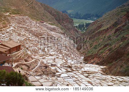 Salt Pool In Sacred Valley In Peru