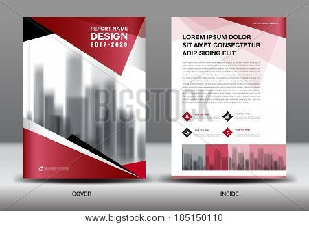 Business Brochure flyer templater Red and black cover design annual report Book Magazine ads company Profile layout in A4 size poster catalog leaflet newsletter Advertisement presentation infographics leaf icon