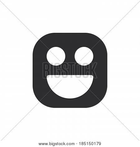 Happy smile Grinning Face emoji. glyph icon vector emoticon