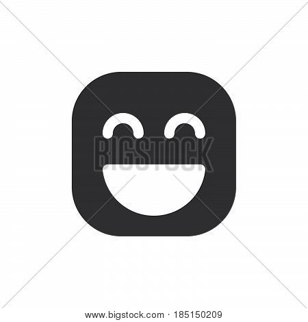 Grinning Face With Smiling Eyes emoji. glyph icon vector emoticon