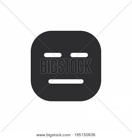 Expressionless Face emoji. glyph icon vector emoticon