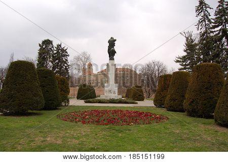 21 march 2009-belgrado-serbia- Ancient castle in the city of belgrade in serbia