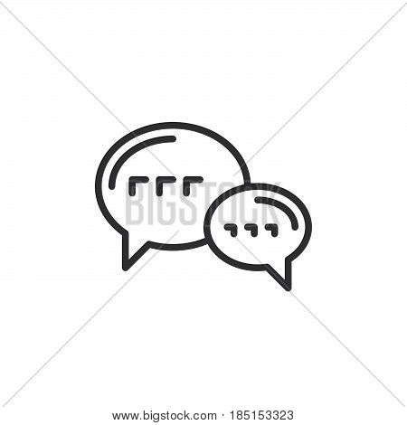 Speech balloons chat outline icon line vector sign linear style pictogram isolated on white. Forum symbol logo illustration. Editable stroke. Pixel perfect