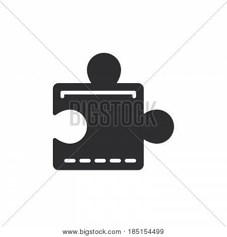 Puzzle plugin icon vector filled flat sign glyph style pictogram isolated on white. Symbol logo illustration. Pixel perfect