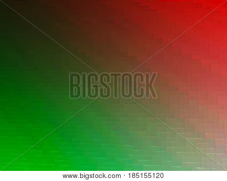 Diagonal red and green 3d blocks texture background hd