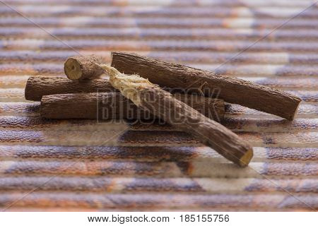 Several pieces of licorice ready to eat