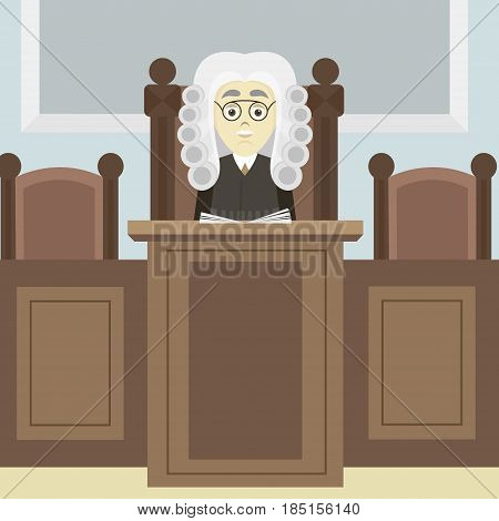 Hand drawn legal judge. Law concept. Vector illustration, EPS 10