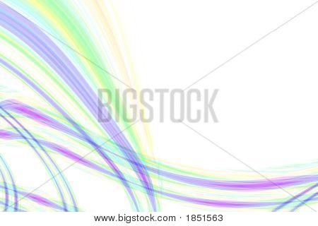 Wave abstrakte fließende Linien Komposition