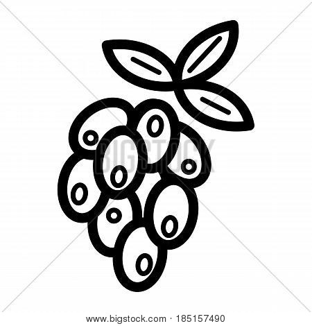 Vector Olives Branch with Leaves Isolated on White Background. Label of olives with olive branch. Eps 10