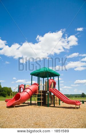 Playground In A Sunny Day