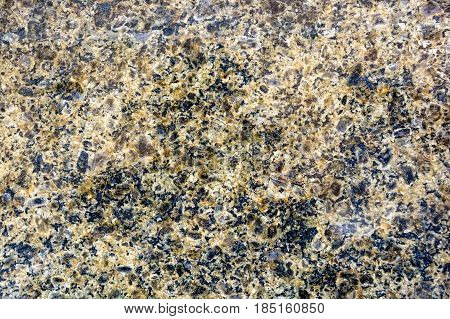 Closeup picture of quartz texture with brown and black colors for background