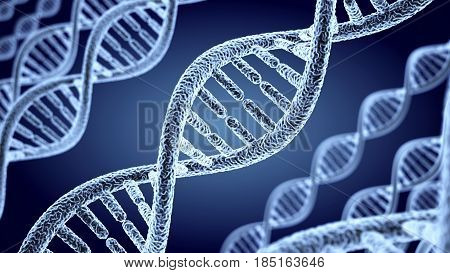 Abstract DNA helix human, background. 3d illustration
