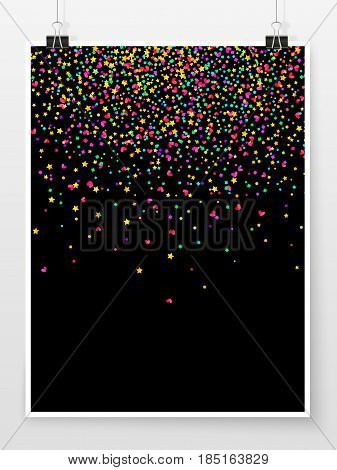 Confetti Poster Binder Clip Celebration Mock Up Star Heart 1