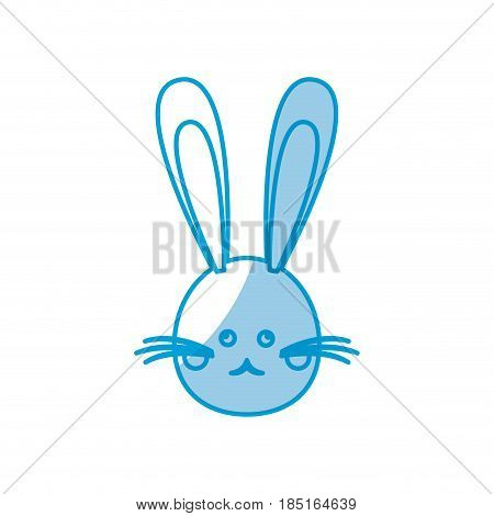 cute head bunny easter character vector illustration