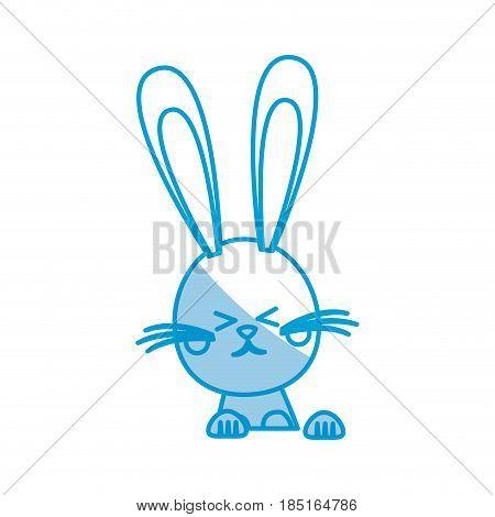 funny easter rabbit decoration celebration vector illustration