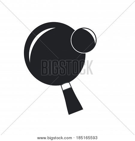 ping pong sport racket and ball hobby vector illustration