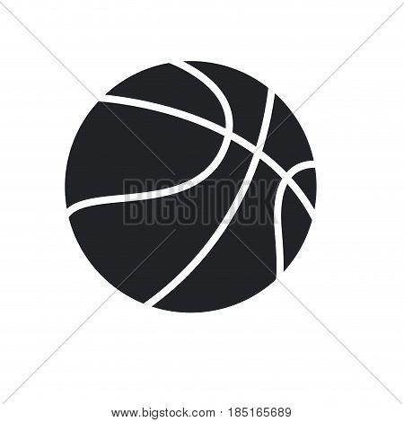 basketball ball sport play equipment pictogram vector illustration