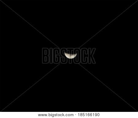 moon on a black back ground, photography
