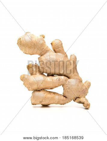 Ginger root isolated on a white background