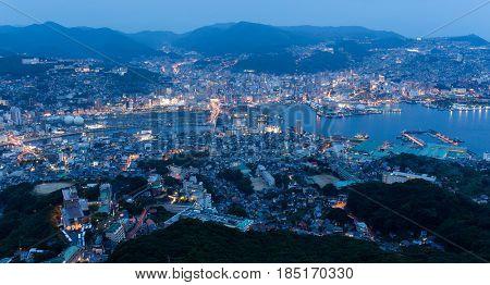 Nagasaki city at night