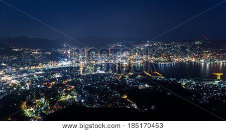 Japanese Nagasaki skyline