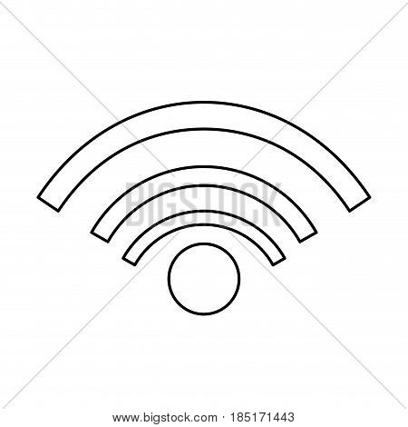 wifi internet connected online signal line vector illustration