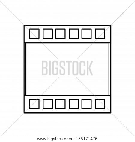 filmstrip cinema movie negative line vector illustration