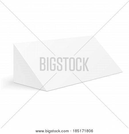 White cardboard vector photo free trial bigstock white cardboard triangle box packaging for food gift or other products illustration isolated on maxwellsz