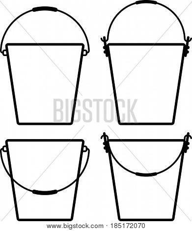 Bucket Icon  Raster Illustration