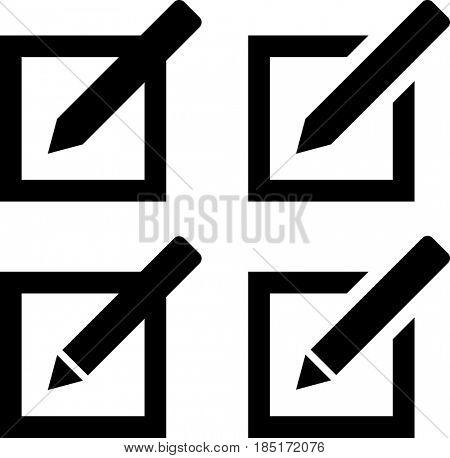 Compose Mail Icon  Raster Illustration